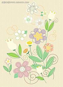 黄色百合花背景素材