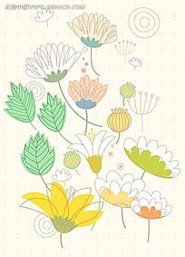 叶子花朵背景素材