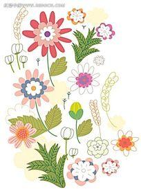 植物树叶花朵背景素材