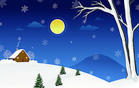 安宁雪夜三开移门图案