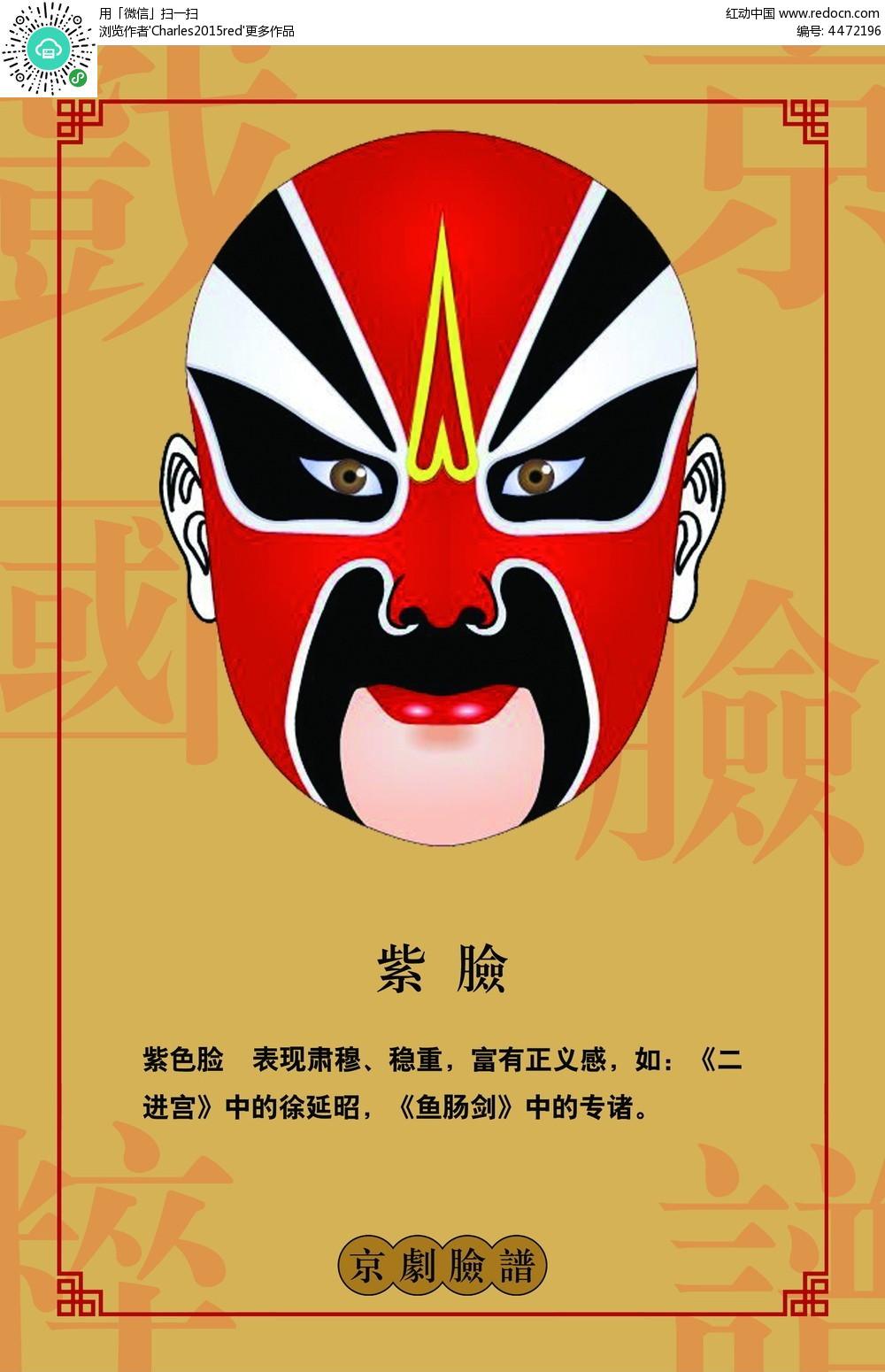 京剧脸谱介绍展板图片