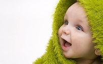 开心微笑可爱宝宝婴儿照片