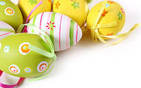 鲜艳复活节可爱彩蛋