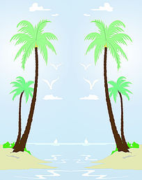 椰树双开移门图案
