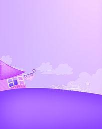 紫色咖啡屋双开移门图案