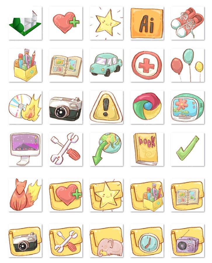 卡通手机图标