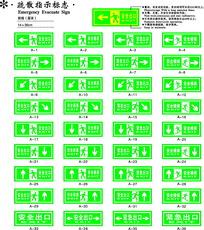 绿色疏散指示标志