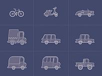 手机app车辆图标设计元素
