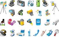 相机电话交卷等电子产品图案