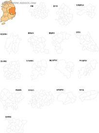 地图矢量素材