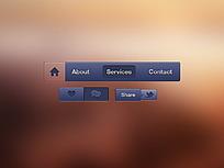 深蓝风格手机网页导航条图标
