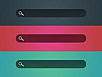 三款手机界面搜索框UI图标