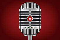手机app录音金属质感图标