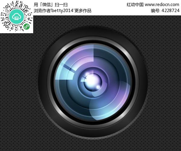 质感黑色手机界面相机ui图标psd素材免费下载_红动网