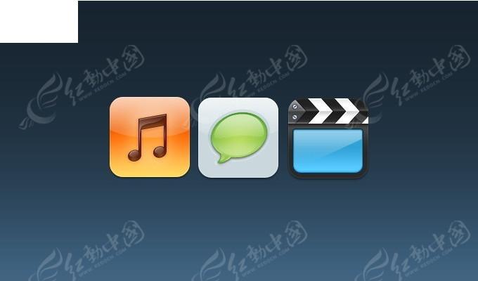 质感手机界面方形按钮ui图标psd免费下载