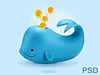 海豚图案手机APP界面
