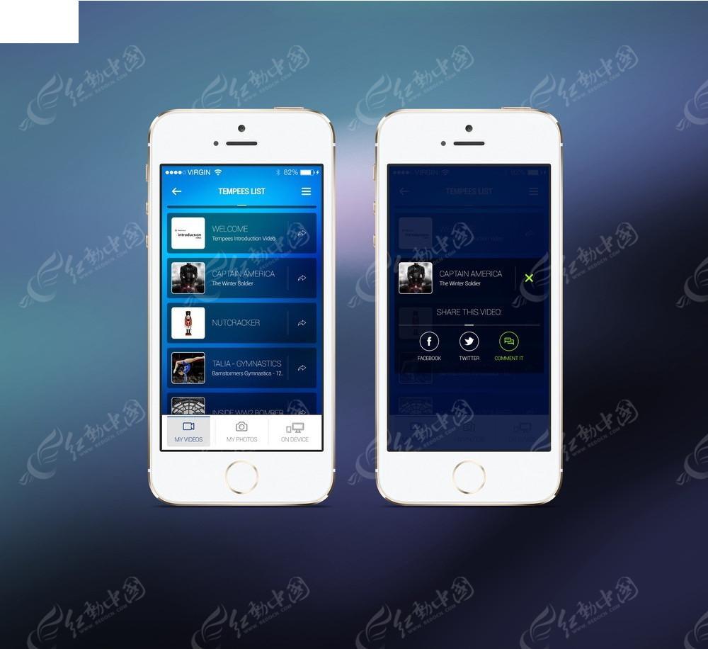 白色苹果手机界面展示图片图片