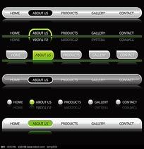 黑白质感网页导航条UI图标