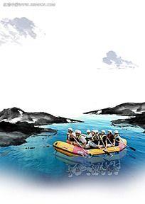 划船背景素材