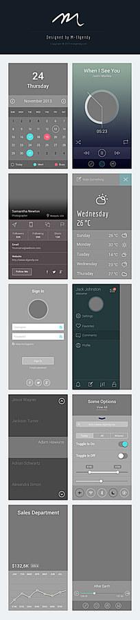 灰色网页图标设计