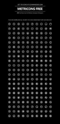 简单图标手机APP界面
