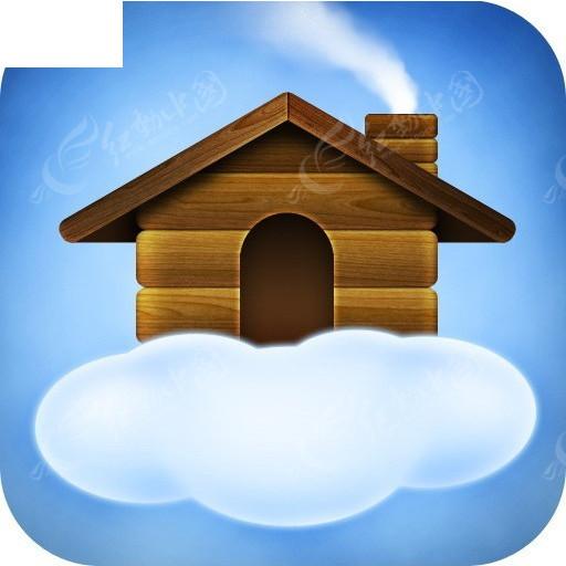 鸟房子木制图标设计