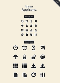 手机app界面设计UI矢量图标