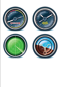 圆形图标手机APP界面