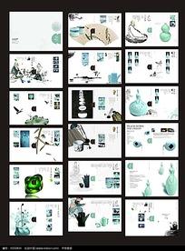 中国风古典文化宣传画册psd设计