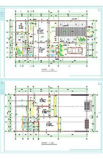 别墅单体建筑设计样式图纸