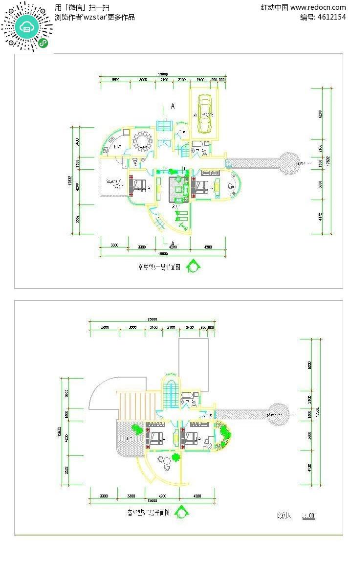 单体样式平面图v单体图库_CAD别墅别墅聚汇图片