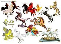 各种马的PSD素材