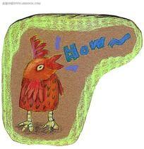公鸡打鸣海报PSD素材