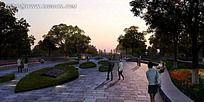 公园广场效果图
