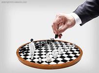 黑白格子棋子背景素材