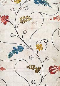 花草瓷砖图案