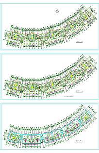弧形建筑平面图素材
