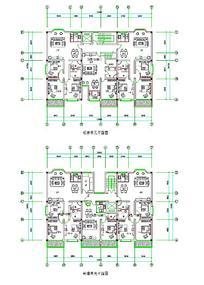 建筑标准单元平面图