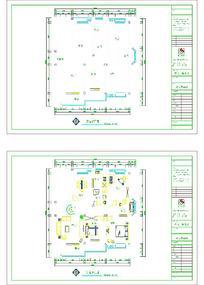 建筑平面图CAD样式素材