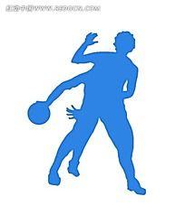 蓝色打篮球海报PSD素材