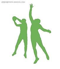 绿色打篮球海报PSD素材