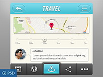 旅行手机APP界面