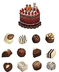 巧克力蛋糕PSD素材