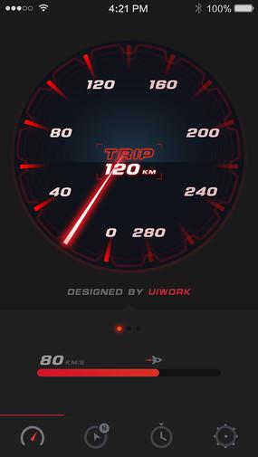 钟表图案手机APP界面