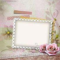 粉玫瑰相册PSD素材