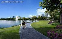 河滨公园人行道效果图