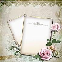紫色玫瑰花相册PSD素材