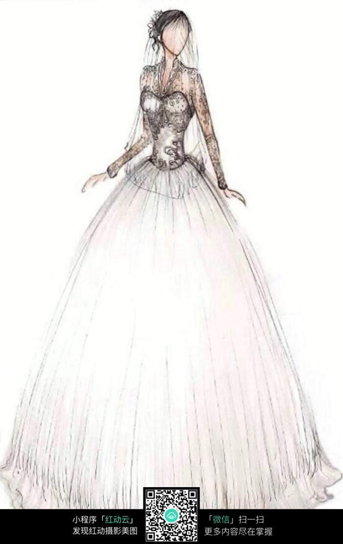婚纱手绘稿