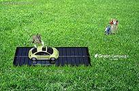 绿色草坪概念图