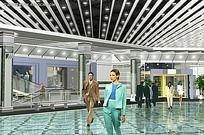 商场概念模型精品图
